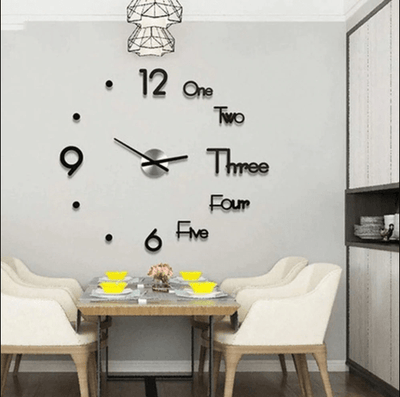 3d wall clock, sticker wall clock, 3D DIY Wall Clock