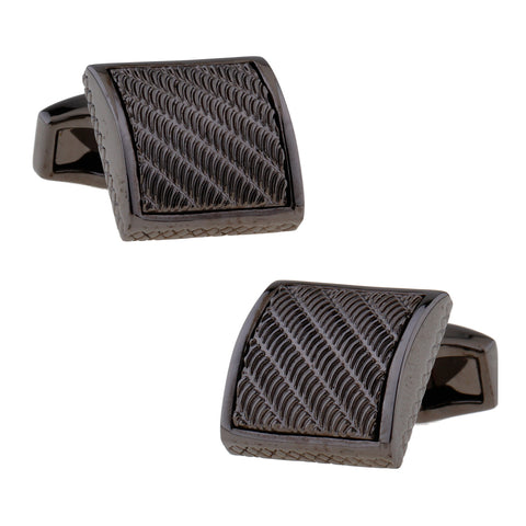 Gunmetal Wave Cufflinks