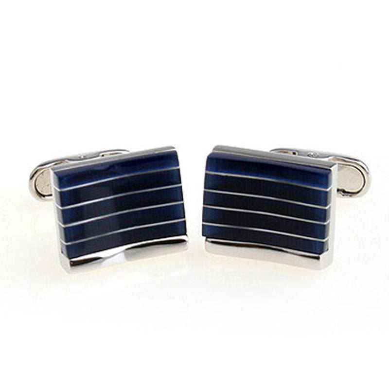 Blue Curve Cufflinks