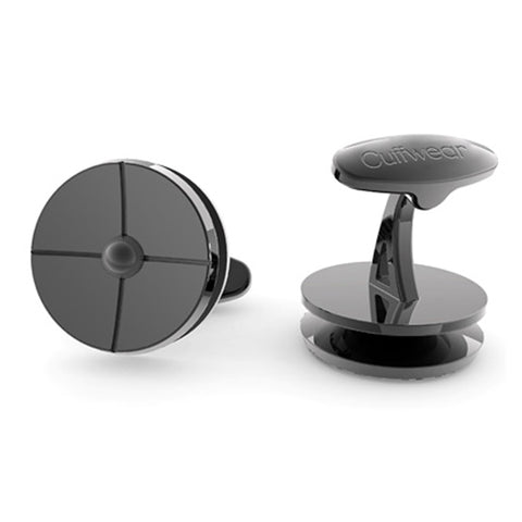 On Target - Black Cufflinks