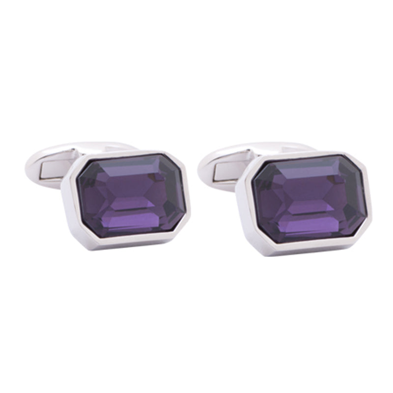 Crystal Purple Cufflinks