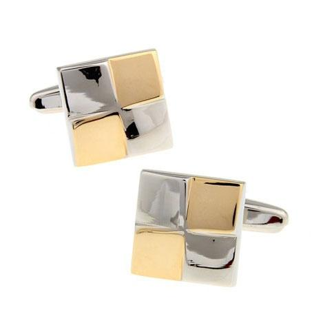 Two Tone Squares Cufflinks