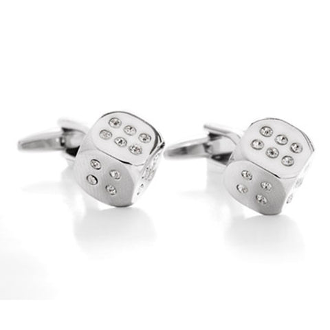 Glam Roller Clear Cufflinks