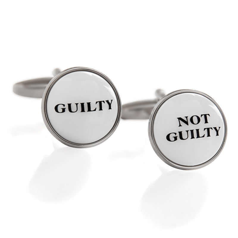 Guilty / Not Guilty Cufflinks