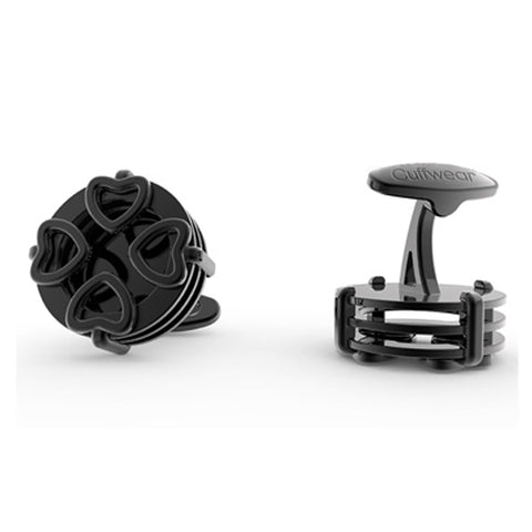 4 Hearts Cufflinks - Black