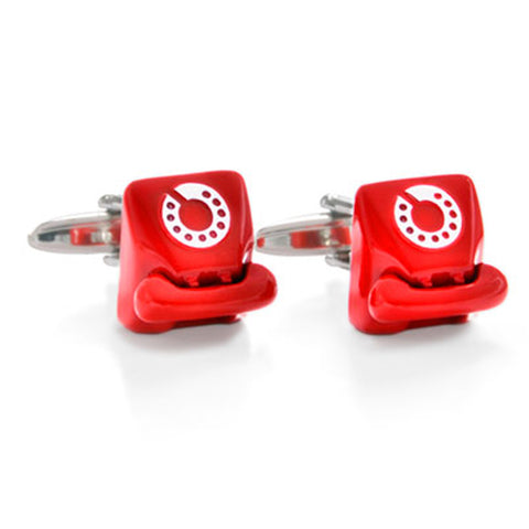 Retro Telephone Red Cufflinks