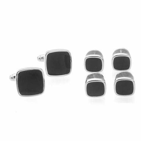 Cufflinks and Shirt Stud Set - Square