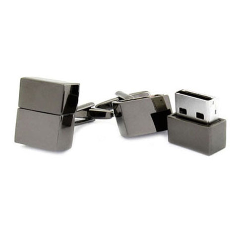 USB-Gunmetal Cufflinks - 2G Each Cufflink
