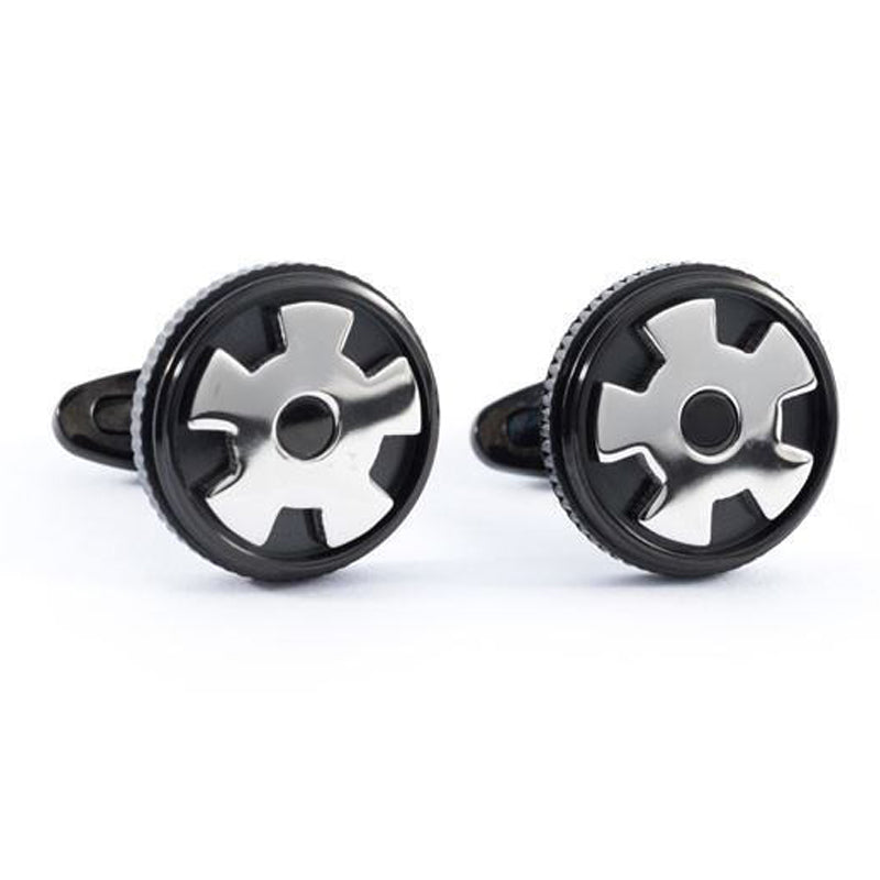 Cufflinks - Geared Up - Black