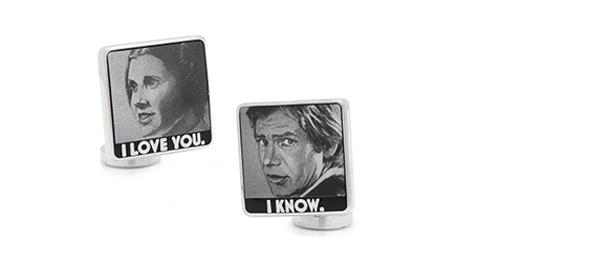 Cufflinks - Star Wars I Love You I Know Cufflinks