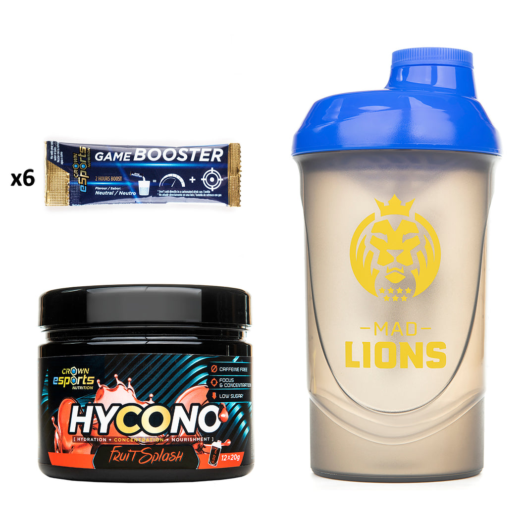 PACK Hycono + Shaker Mad Lions + 6 Game Booster Neutro