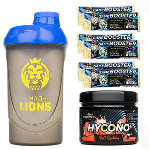 PACK Shaker + Hycono + 6x Monodosis Game Booster Golden MAD Apple