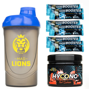 PACK Shaker + Hycono + 6x Monodosis Game Booster Blue Ice