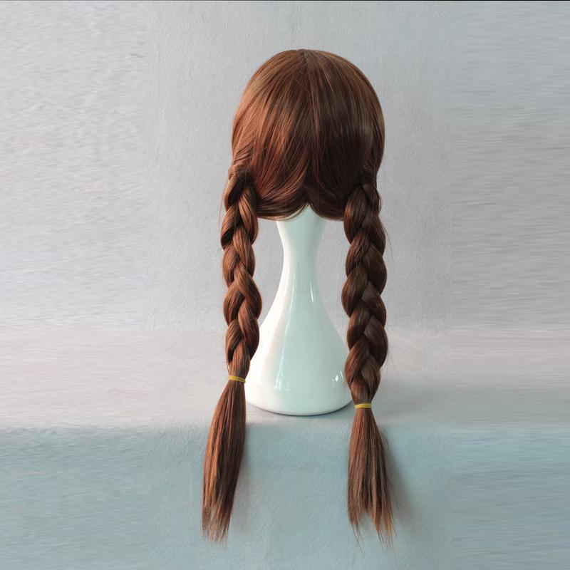 Frozen Anna Princess wig cosplay accessory