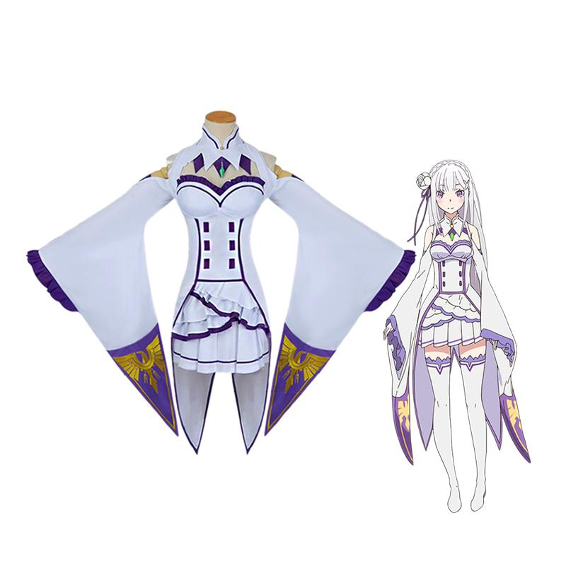 Anime Re:Zero Starting Life in Another World Emilia Cosplay Costume