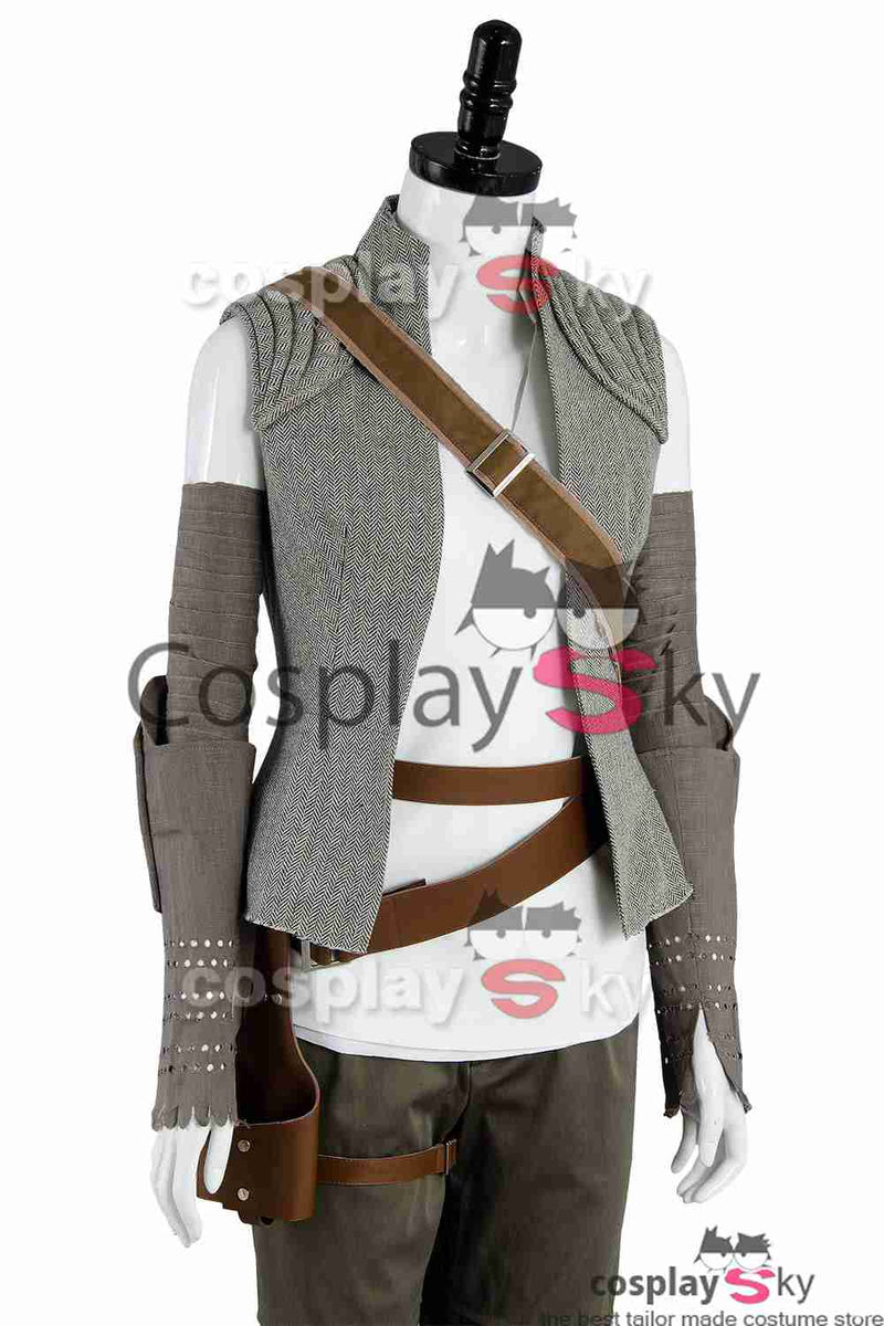 Star Wars 8 The Last Jedi Rey Outfit Cosplay Costume