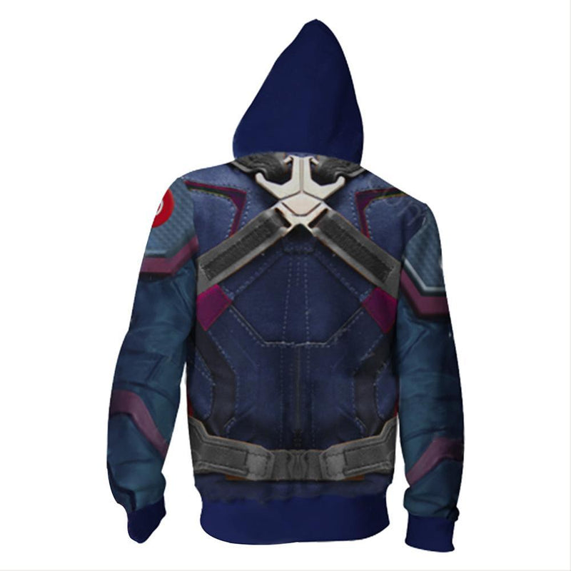 Avengers 4:End Game Quantum Realm Captain America Hoodie