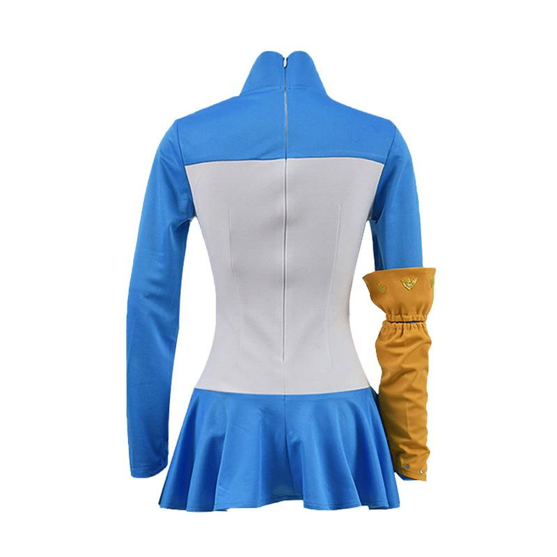 Anime The Seven Deadly Sins Elizabeth Liones Blue Dress Cosplay Costume