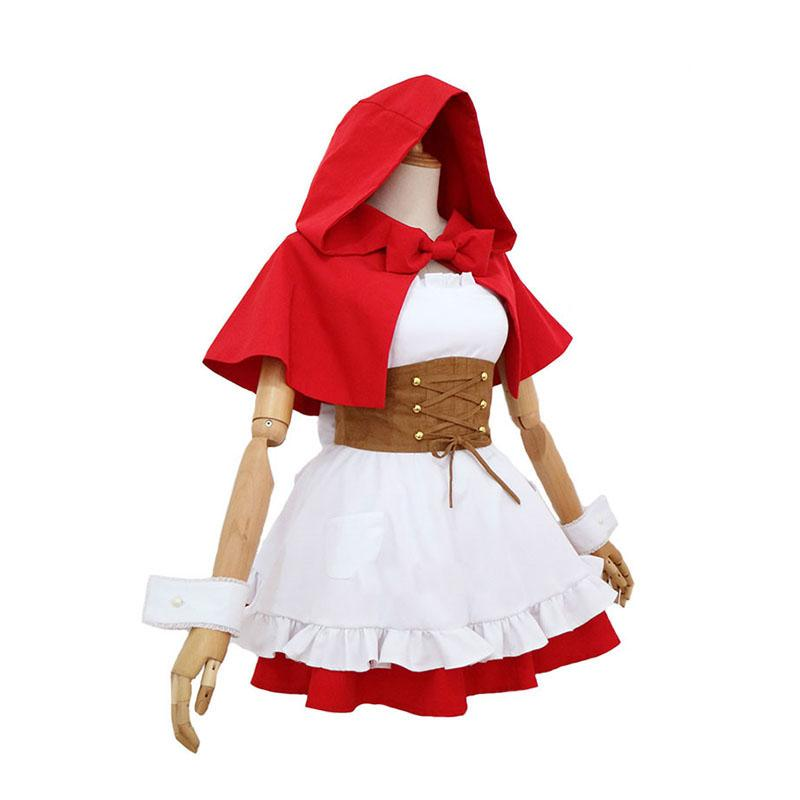 Anime Re:Zero Starting Life in Another World Rem and Ram Little Red Riding Hood Cosplay Costume