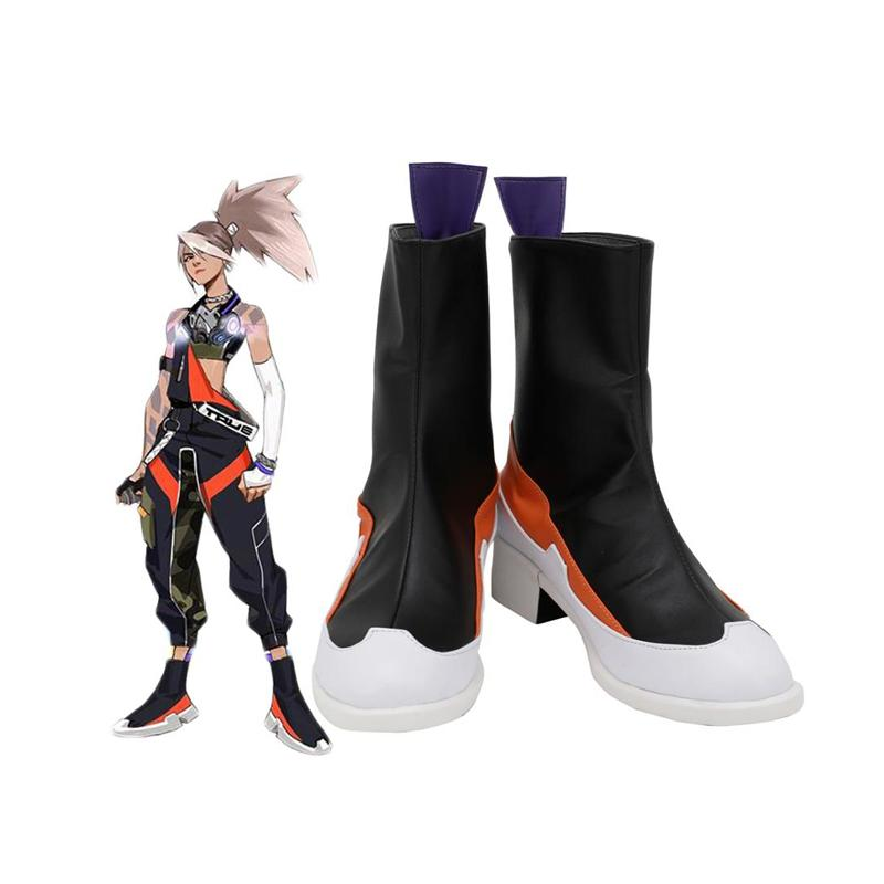 LOL True Damage Akali Cosplay Boots Customized Leather Shoes for Boys and Girls