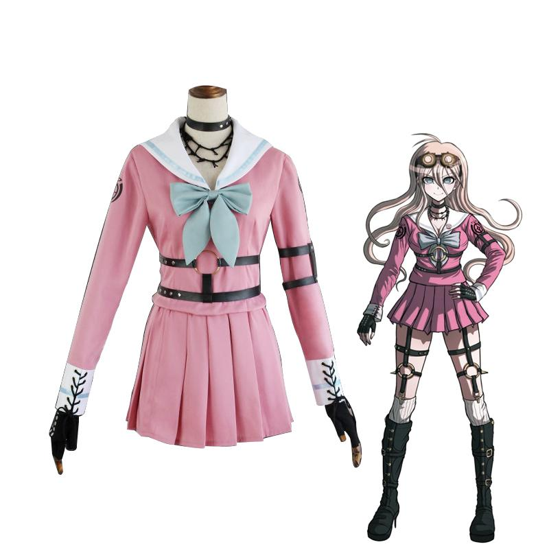 Anime Danganronpa V3: Killing Harmony Iruma Miu Cosplay Costume Halloween Party Suit
