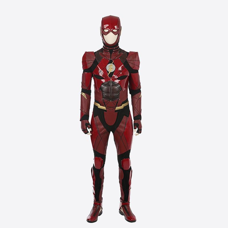 Justice League The Flash Barry Allen cosplay costume jumpsuit