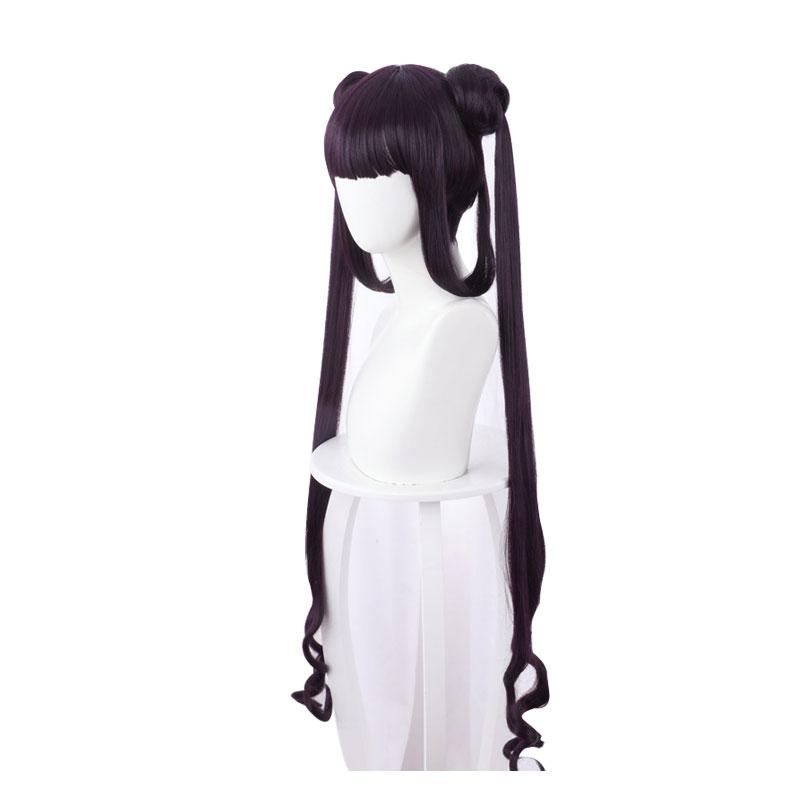 FGO Fate/Grand Order The Imperial Concubine Yang Yang Gui Fei Dark Purple Ponytail Cosplay Wig