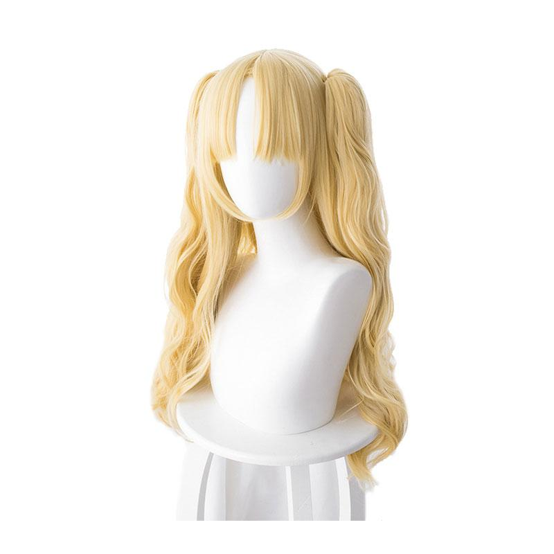 FGO Fate/Stay Night Ereshkigal Tohsaka Rin Blonde Curved Long Ponytails Cosplay Wigs