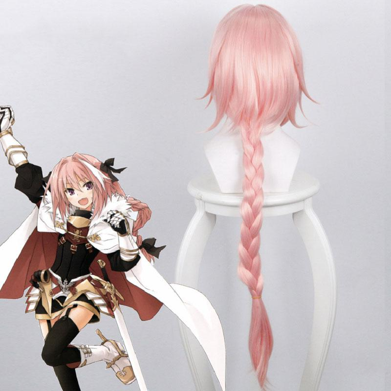 FGO Fate Grand Order Apocrypha Rider of Black Astolfo Pink Long Braid Cosplay Wig