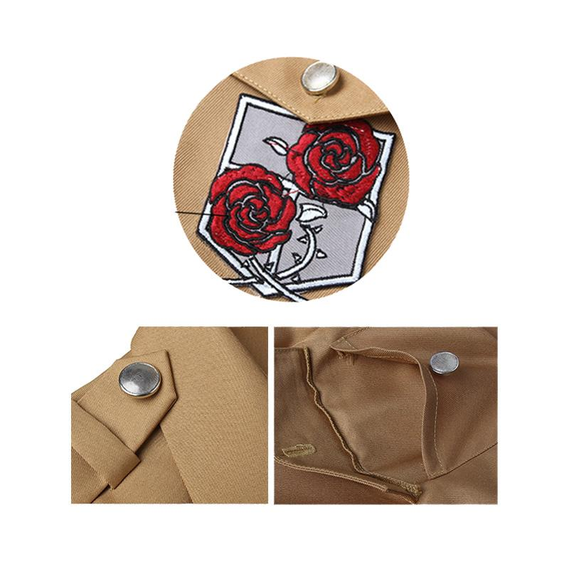 Anime Attack on Titan Rico Garrison Regiment Coat Cosplay Costume
