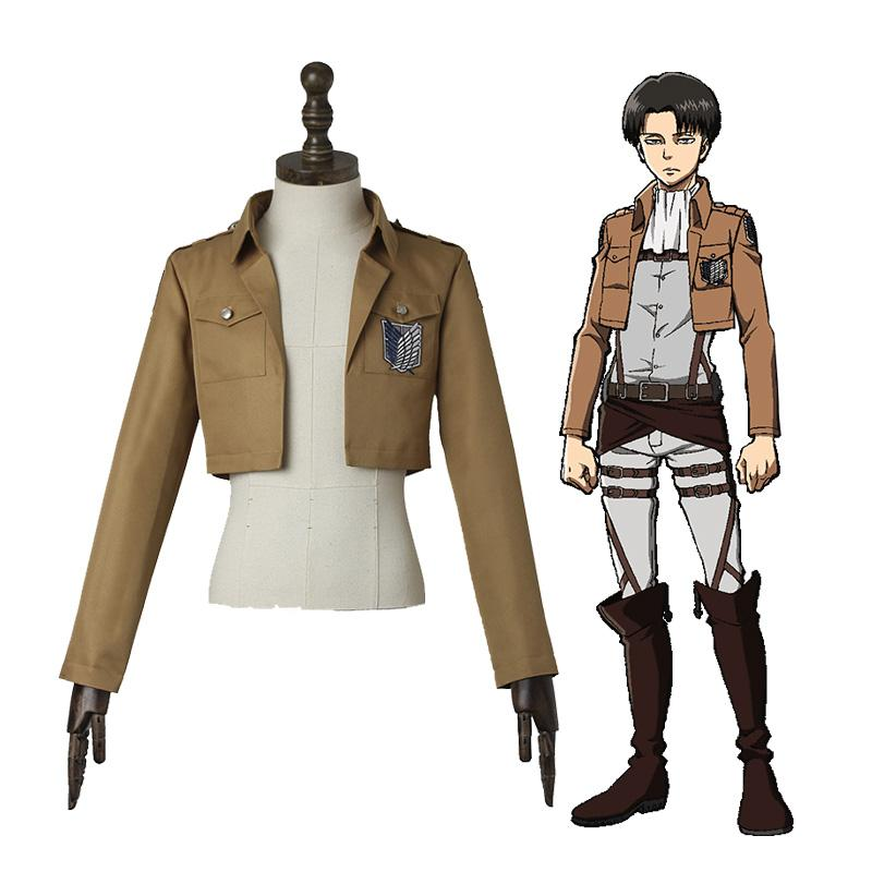 Anime Attack on Titan Captain Levi The Wings Of Freedom Survey Corps Coat Cosplay Costume