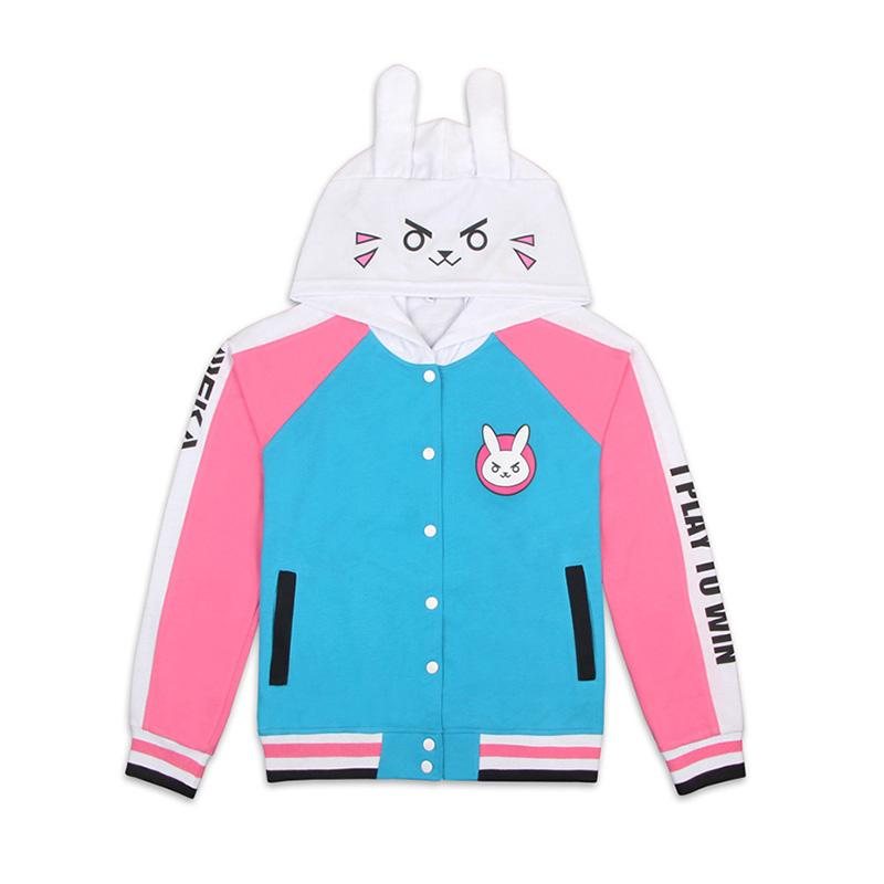 Game OW Overwatch D.Va Hana Song Hoodie Jacket Cosplay Costumes