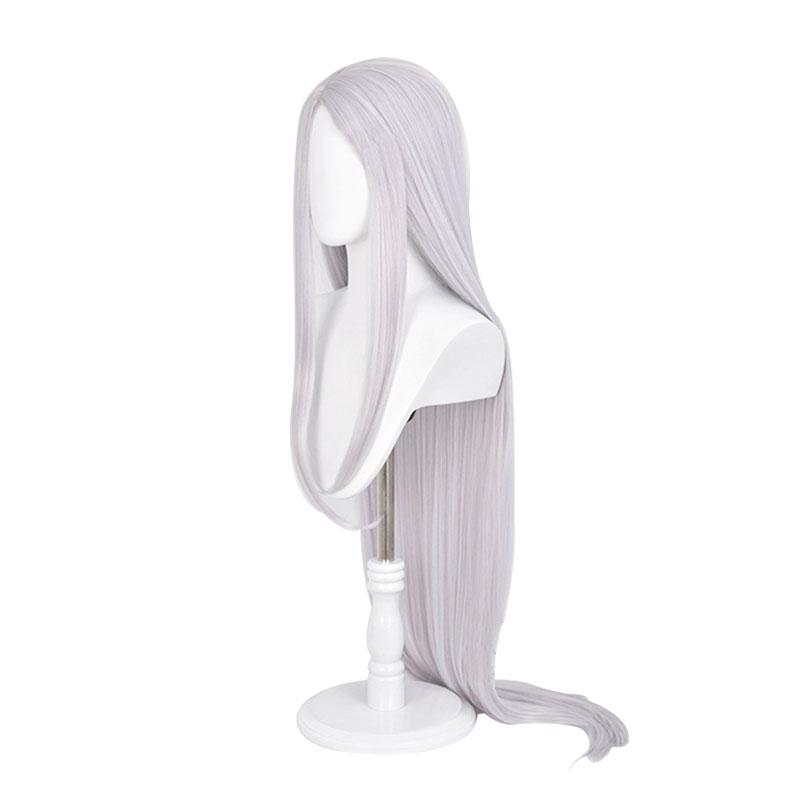 Anime My Hero Academia Miruko Rabbit Hero Long Silver Grey Cosplay Wigs