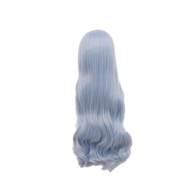 Anime My Hero Academia Eri Long Curly Light Blue Cosplay Wigs