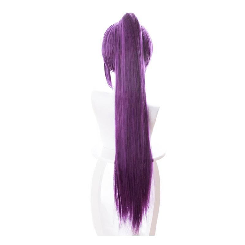 FGO Fate/Grand Order Scathach 80cm Long Straight Purple Ponytail Cosplay Wigs