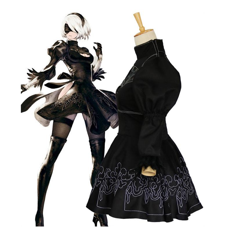 Action Role-Playing Video Game Nier: Automata 2B YoRHa No.2 Type B Cosplay Costumes