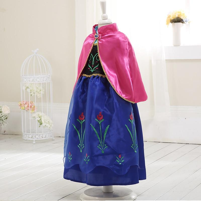 Girls Dress elsa costume anna elsa princess Dress for Kids dress for girls anna dress with cape frozen Dress Costumes Cosplay
