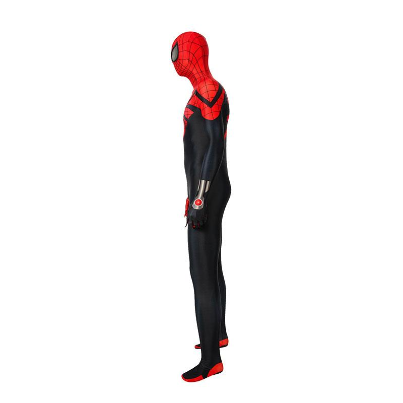 Anime Spiderman: Superior Spider Man Elastic Force Jumpsuit Cosplay Costume with Free Headgear