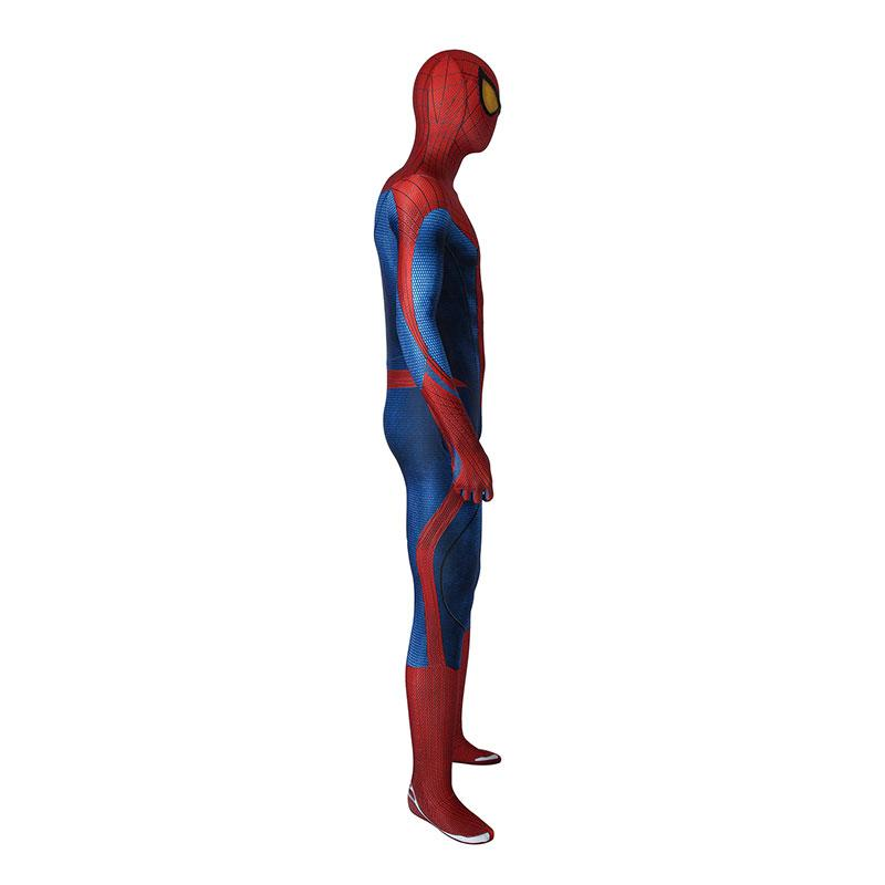 Movie Spider-Man: The Amazing Spider-Man Peter Parker Spiderman Elastic Force Cosplay Costume Jumpsuit with Headgear