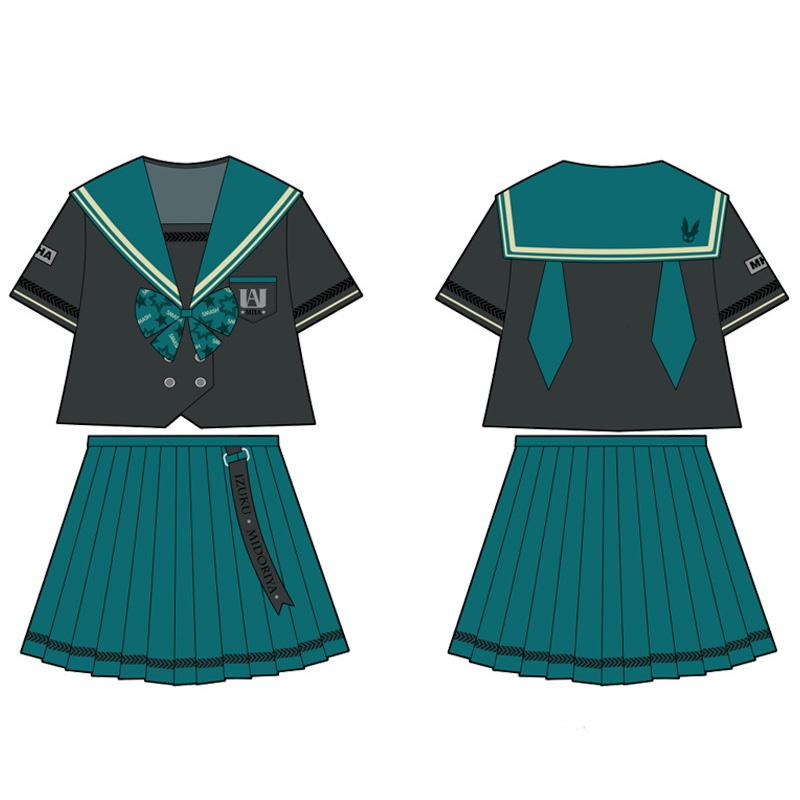 Anime My Hero Academia Female Midoriya Izuku JK Uniform Cosplay Costume