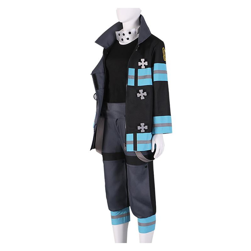 Anime Fire Force Maki Oze Fire Suit Cosplay Costume