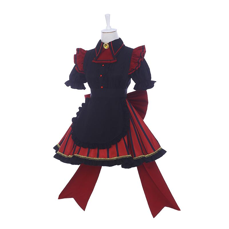 Anime My Hero Academia Himiko Toga Maid Clothes Cosplay Costumes
