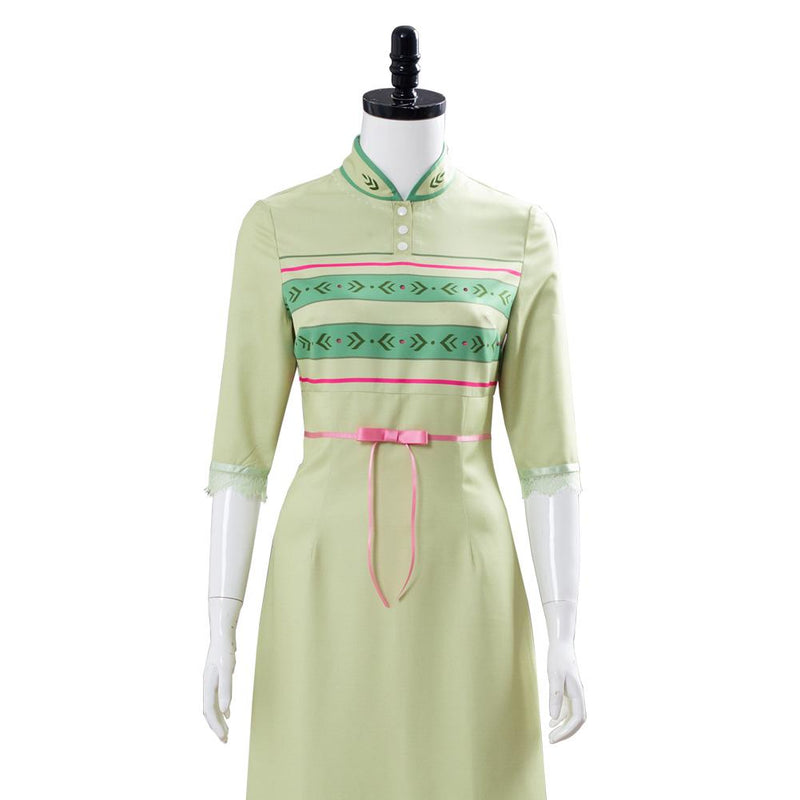 Frozen 2 Anna Nightgown Gown Green Arendelle Bedroom Dress Cosplay Costume