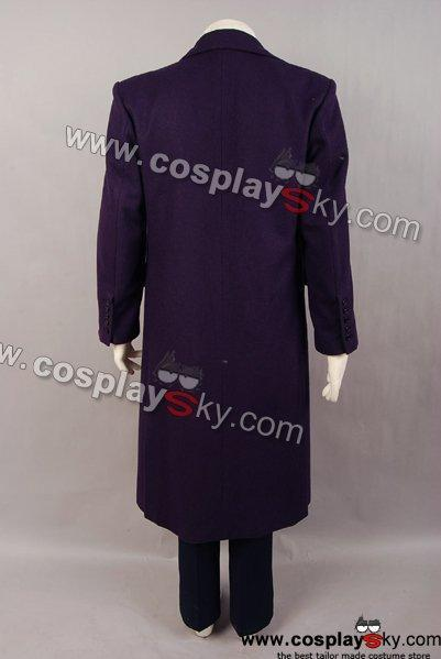 Dark Knight Joker Purple Wool Trench Coat Costume - Wool coat