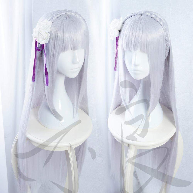 Emilia Wig Cosplay Re:Zero In a Different World From Zero