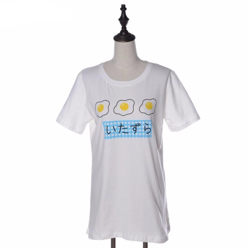 Fried Eggs T-Shirt Japanese Harajuku Itazura [2 Colors]