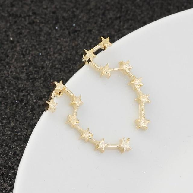 Gold Plated Big Dipper Constellation Fashion Earrings [2 Colors]