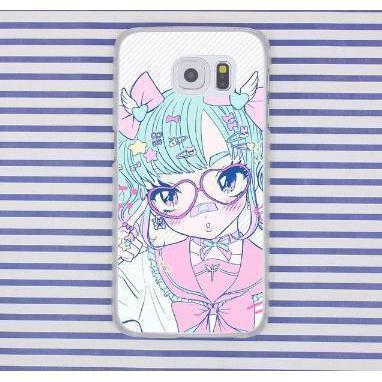 Harajuku Menhera Kawaii Anime Girl Samsung Phone Case Cover