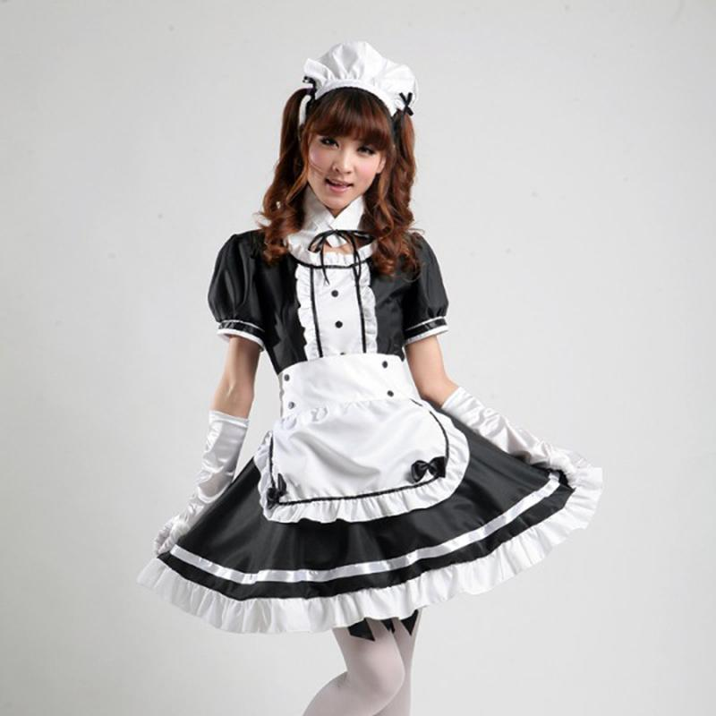 K-ON! Lolita Ruffled Maid Uniform Cosplay [2 Colors]