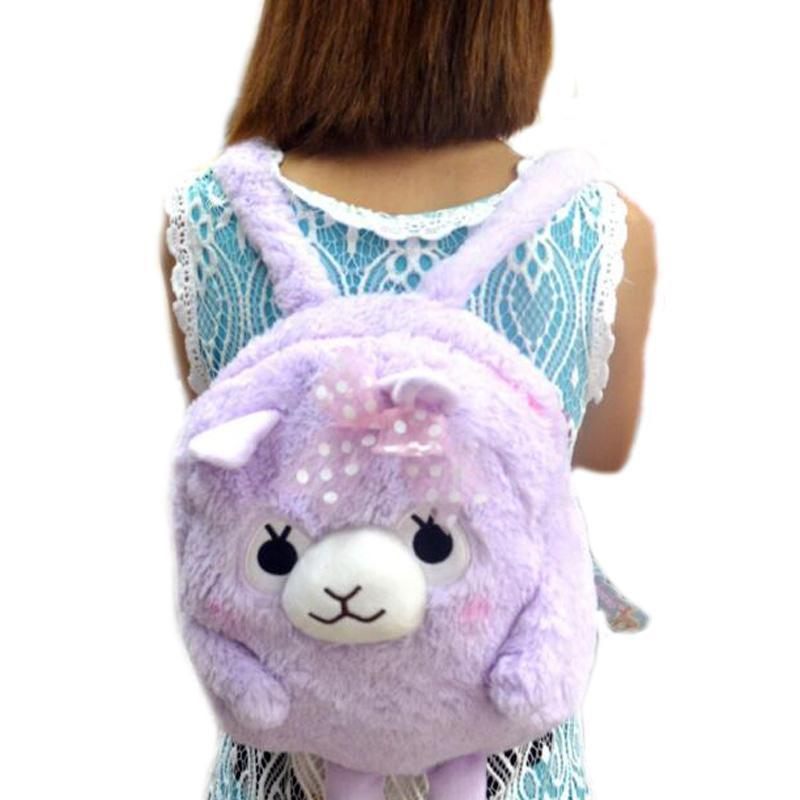 Kawaii Plush Alpaca Backpack [5 Colors]
